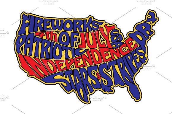 4th Of July Sticker Design