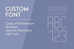 Custom Font - Insomnie