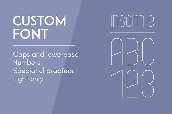 Custom Font Insomnie