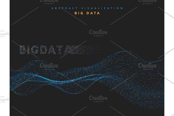 Big Data Background Information Streams System Vector Illustration