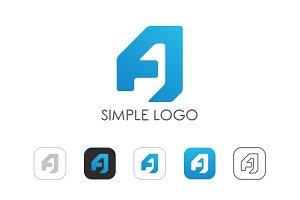 Minimal Letter A Logo