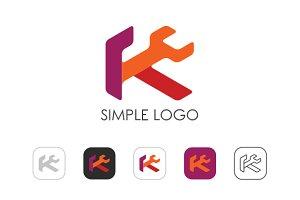 Minimal K Logo