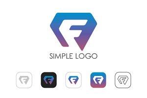 Minimal F Logo
