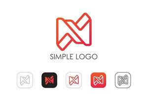 Minimal N Logo