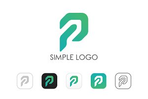 Minimal P Logo