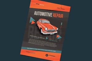 Auto repair services layout template
