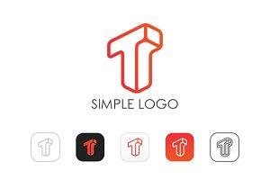 Minimal T Logo