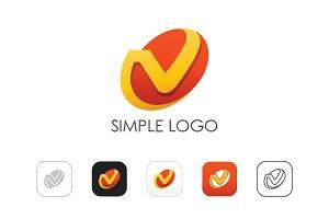 Minimal V Logo