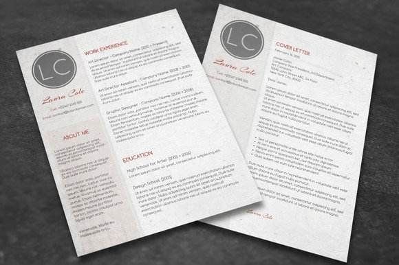 conservative cv cover letter resume templates creative market