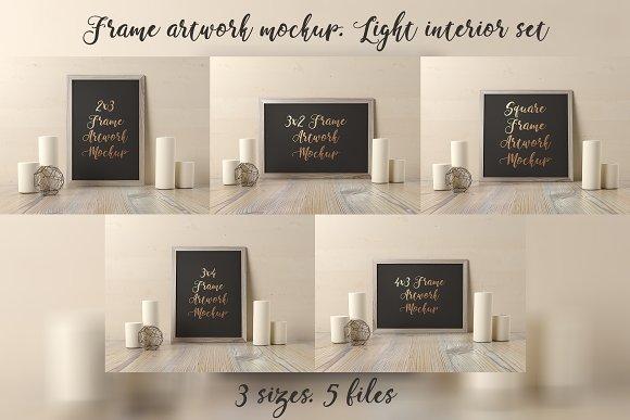 Frame Artwork Mockup Light Set