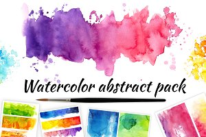 Watercolor abstract pack