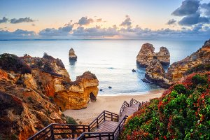 Atlantic ocean view. Algarve