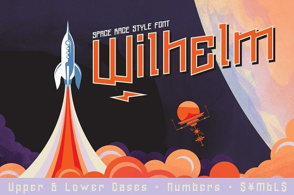Wilhelm Font & Space Vectors - Display