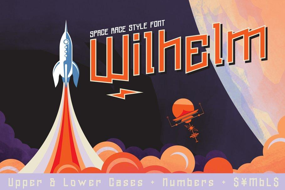 Wilhelm Font & Space Vectors