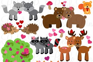 Valentine's Day Forest Animals