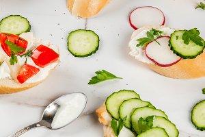 Healthy vegan sandwiches