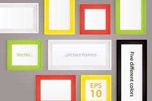 Vector illustration - picture frames