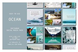 INSTAGRAM TEMPLATE PACK : OCEAN