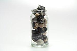 Integer. Full glass can of stones