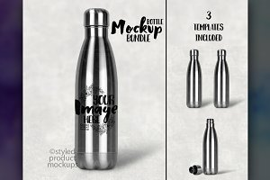 Tapered Water Bottle Mockup
