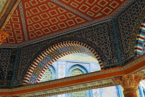 Mosaic of Dome of the Rock mosque in Jerusalem