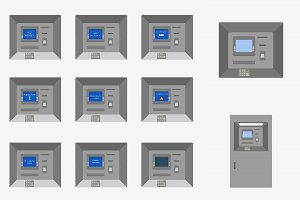 ATM machine icons