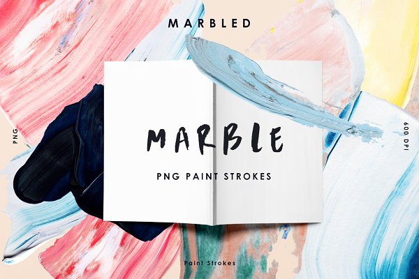 Marble Paint Stroke Cut Outs