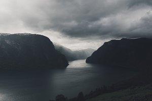 Dark Fjord in Norway