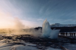 Geysir Strokkur in Iceland (Winter)