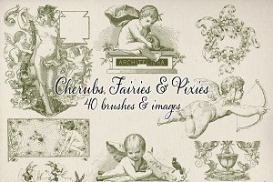 Cherubs, Fairies & Pixies Brush Set