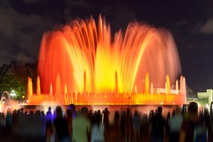 Light show and fountains, Placa Espanya, Barcelona
