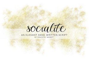 FLASH SALE! Socialite Script Font