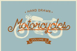 Vintage Hand drawn Motorcycle Vol. 2