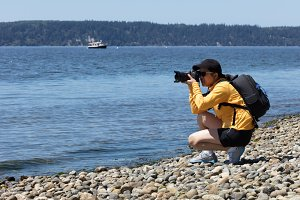 Woman nature photographer
