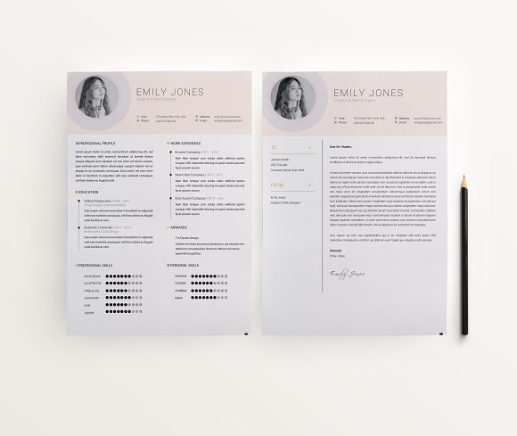 Simple Color CV-Resume Template *C