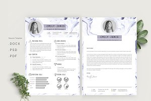 Marble simple CV-Resume Template *C