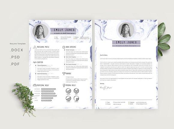 Marble Simple CV-Resume Template *C