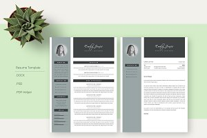 Color Simple CV-Resume Template *C