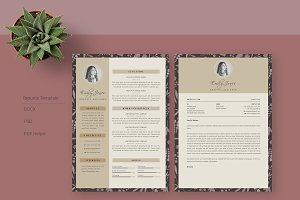 Simple Pattern CV-Resume Template *C