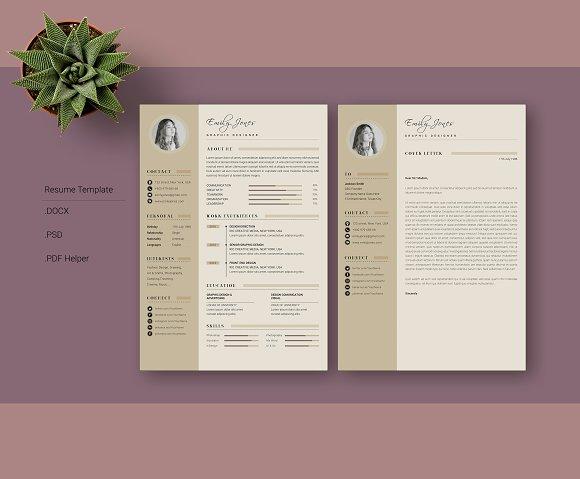 Simple Color CV-Resume Template *C