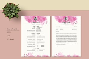 Water Color CV-Resume Tempalate *C