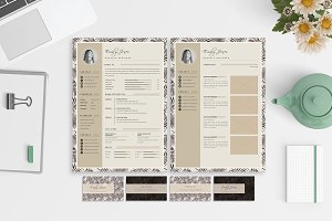 CV-Resume/Portfolio/Card Template *C