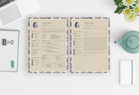 CV-Resume Portfolio Card Template *C