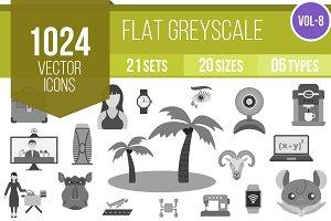 1024 Greyscale Icons (V8)