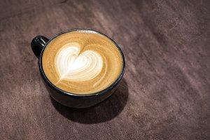 coffee latte art in morning