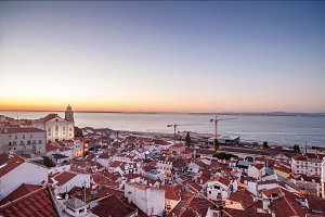 Panoramic city view. Lisbon