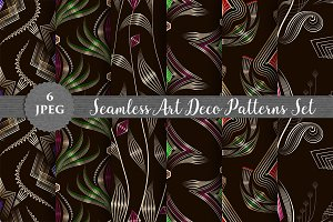 SALE! ART DECO seamless patterns