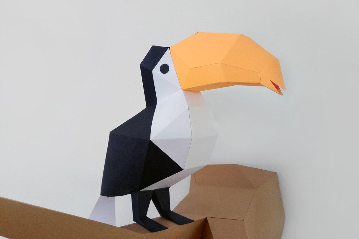 Diy Toucan Bird 3d Papercraft Creative Templates Creative Market