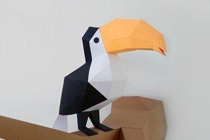 DIY Toucan Bird - 3d papercraft