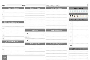 Daily Business Planner - Mono